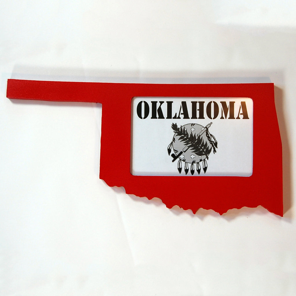 Oklahoma Picture Frame Red