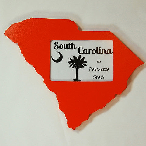 South Carolina Picture Frame Orange