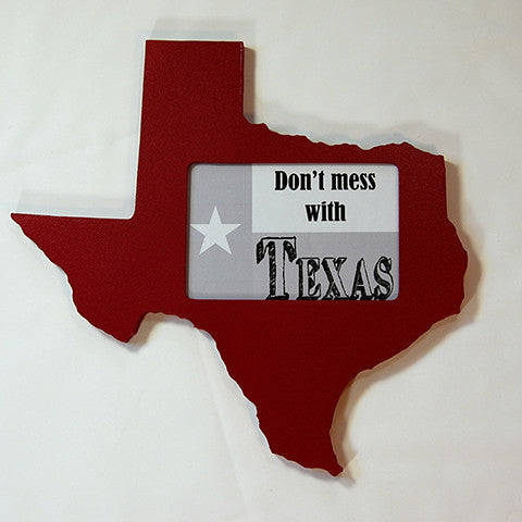 Texas Picture Frame Maroon