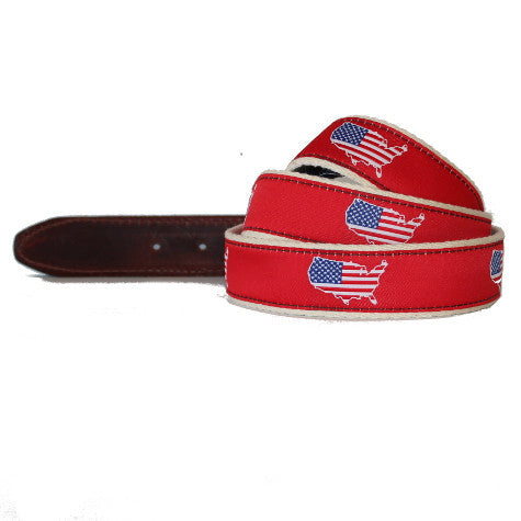 America Traditional Belt Red