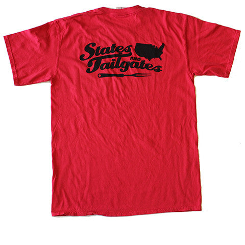 States and Tailgates T-Shirt Red and Black