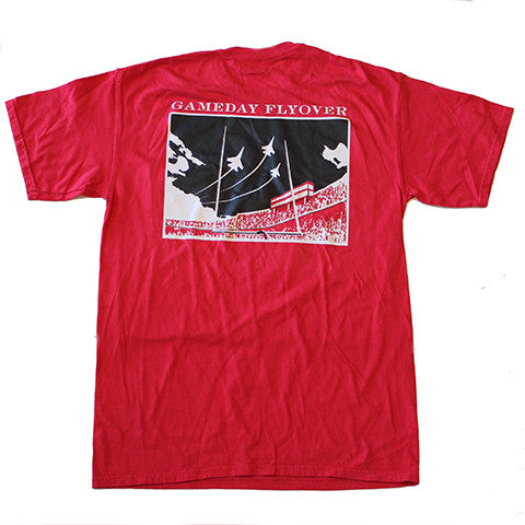 State Traditions Gameday Flyover T-Shirt Red and Black
