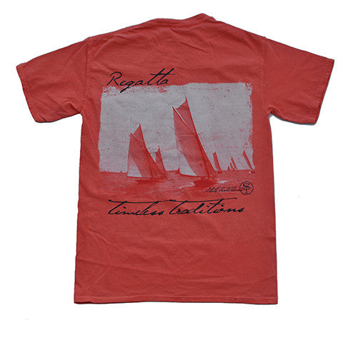 Timeless Traditions Regatta T-Shirt Bright Salmon