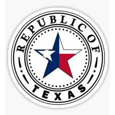 Texas - The Republic of Texas Sticker