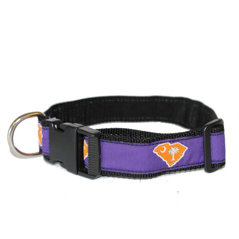 South Carolina Clemson Gameday Dog Collar