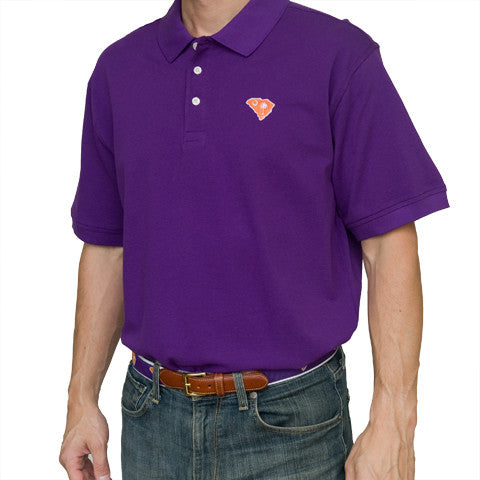 South Carolina Clemson Gameday Polo Purple