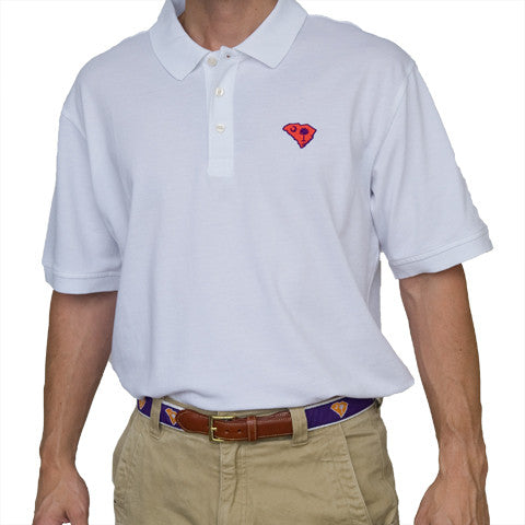 South Carolina Clemson Gameday Polo White