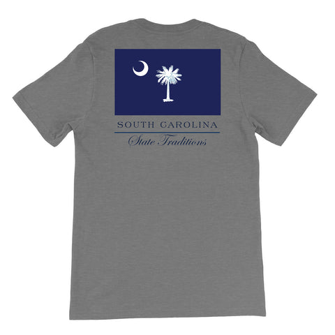 south Carolina State Flag T-Shirt Grey