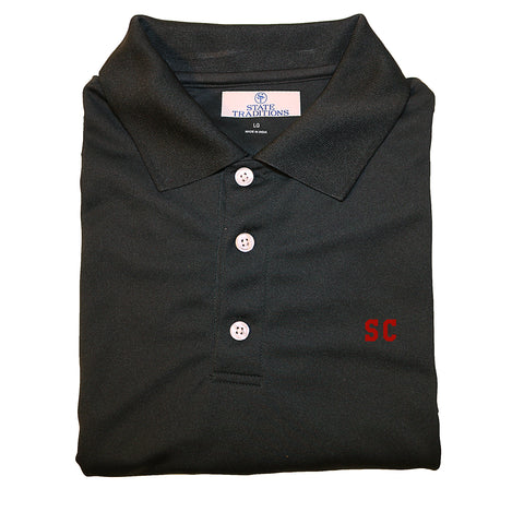 Black and Garnet South Carolina Polo