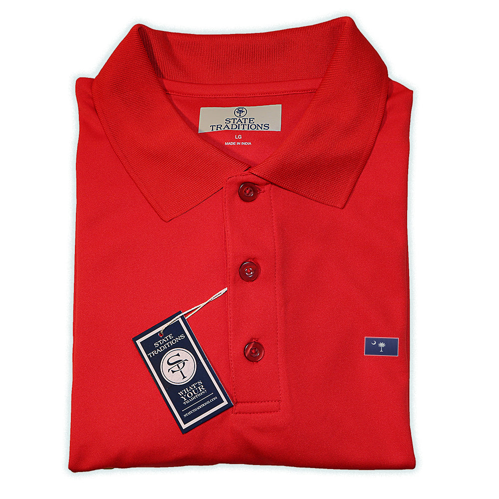 State Traditions South Carolina Flag Performance Polo Red