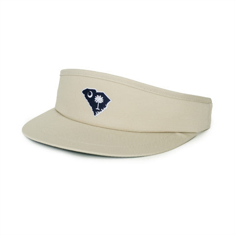 South Carolina Traditional Golf Visor Khaki