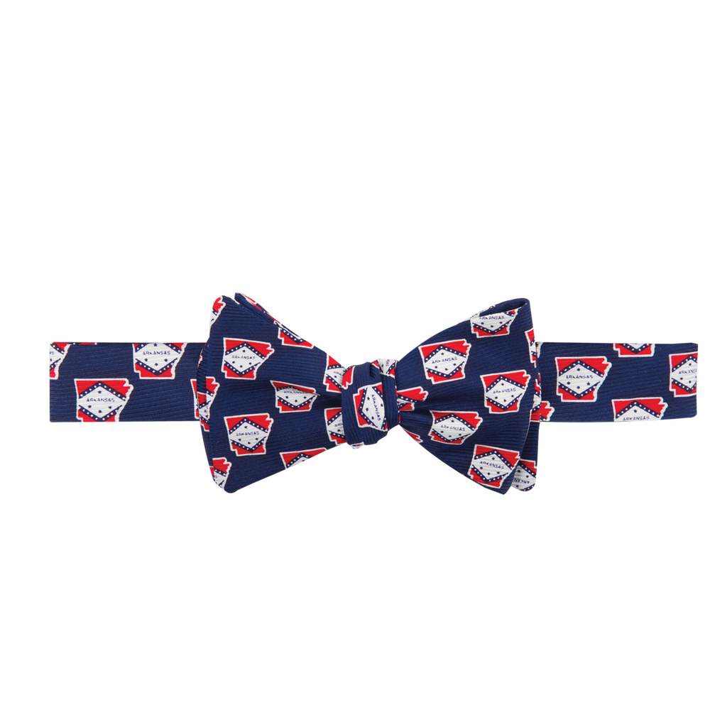 Arkansas Traditional Bow Tie Navy