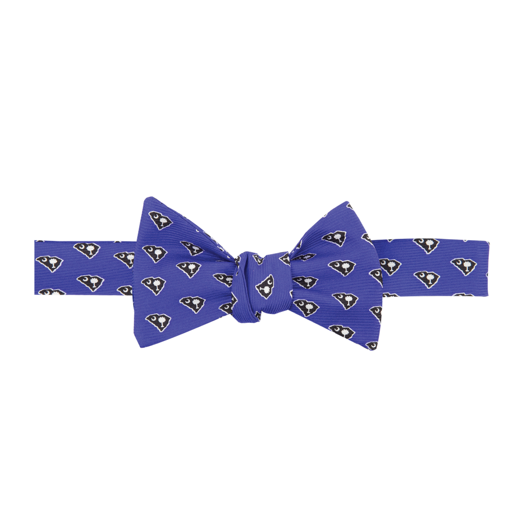 South Carolina Traditional Bow Tie Blue with Navy