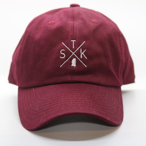 "Mississippi Starkville ""STK"" Gameday Crossing Hat"