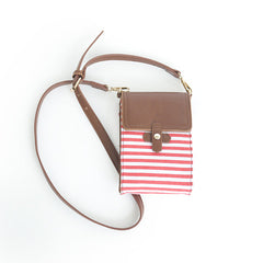 Alabama Crossbody Bag Red and White