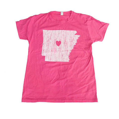 Arkansas Love Women's T-Shirt Pink