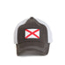 Charcoal Grey Alabama Flag Trucker Hat Front View