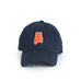 Navy Auburn Alabama Gameday Hat Front View