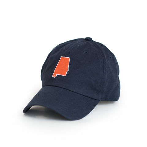 Navy Auburn Alabama Gameday Hat Side View