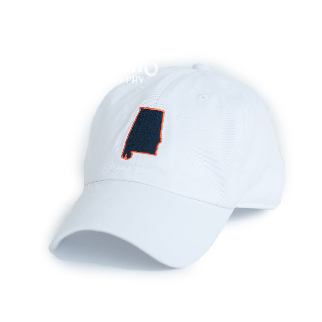 White Auburn Alabama Gameday Hat Side View