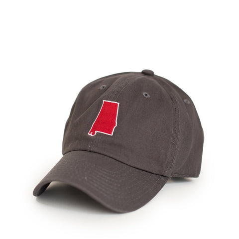 Charcoal Grey Alabama Tuscaloosa Gameday Hat Side View