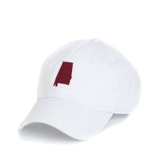 White Alabama Tuscaloosa Gameday Hat Side View