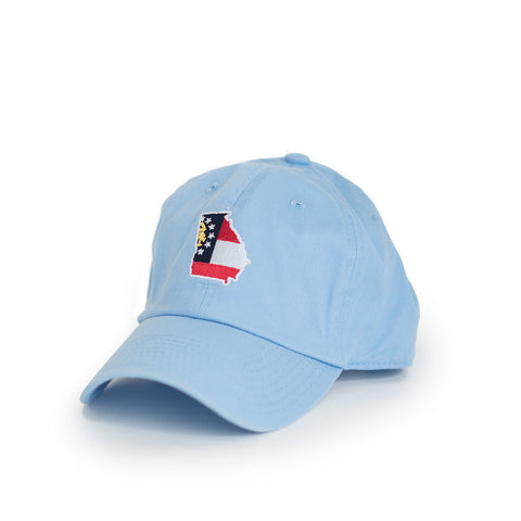 Light Blue Georgia Traditional Hat Peach State Pride Georgia Flag GA Traditional GA Peach State