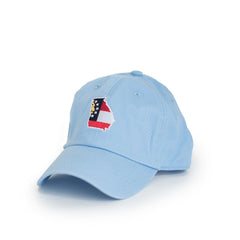 Light Blue Georgia Traditional Hat Side View