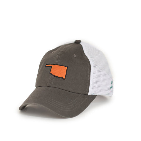 Oklahoma Stillwater Gameday Trucker Hat Grey