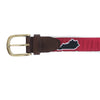 Red Kentucky Louisville Gameday Ribbon Belt Buckle