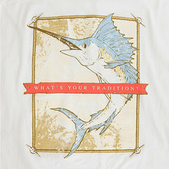 Coastal Collection Sailfish T-Shirt White