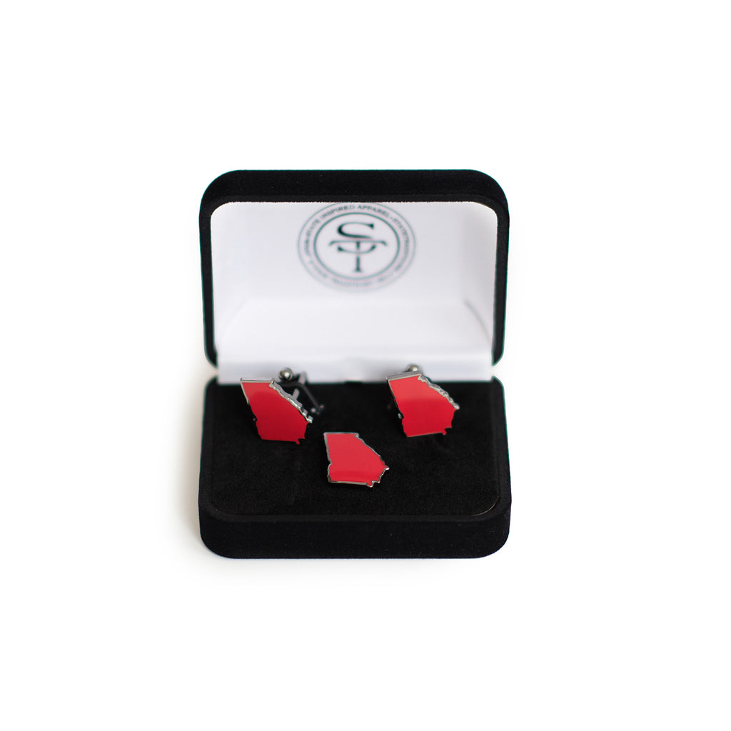 Georgia Athens Gameday Cufflink Lapel Pin Set