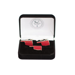 Oklahoma Norman Gameday Crimson Cuff Link and Lapel Pin Set