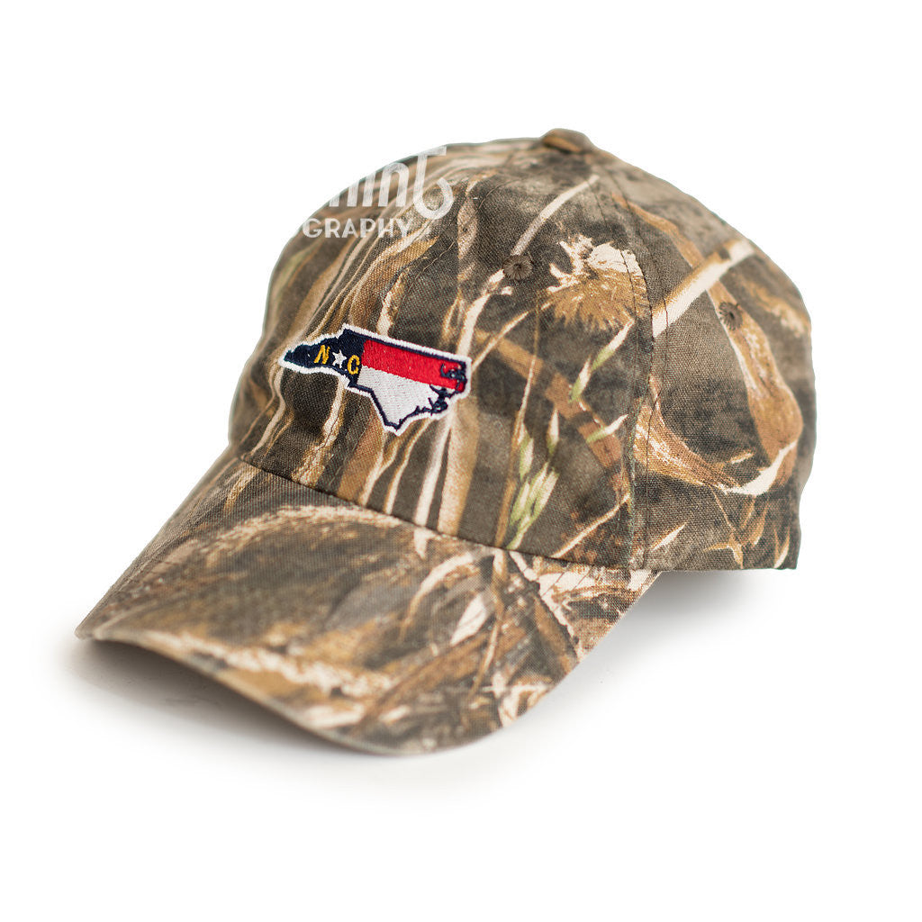North Carolina Traditional Max 5 Camo Hat Side View