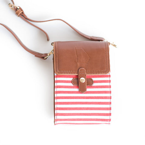 Georgia Crossbody Bag Red and White