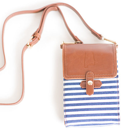 Alabama Crossbody Bag Blue and White