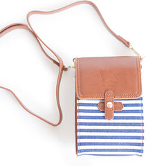 Georgia Crossbody Bag Blue and White