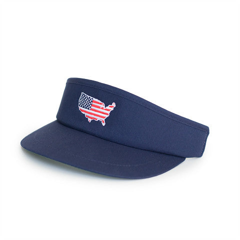 America Traditional Golf Visor Navy