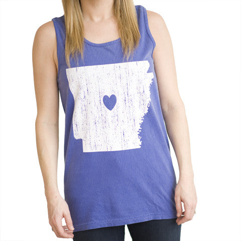 Arkansas Love Tank Blue