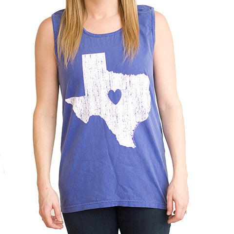 Texas Love Tank Blue