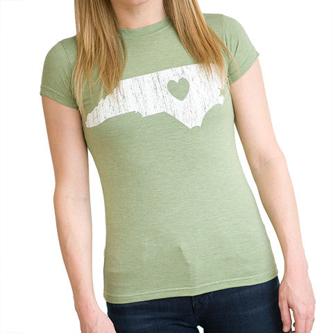 North Carolina Love Women's T-Shirt Mint