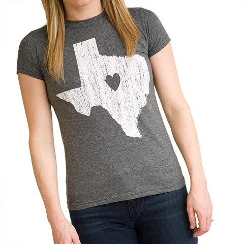 Texas Love Women's T-Shirt Grey