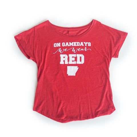 Arkansas Women's Gameday T-shirt Red