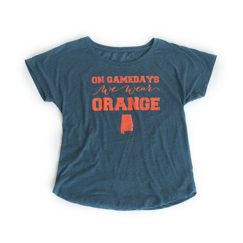 Auburn Women's Gameday T-shirt Navy