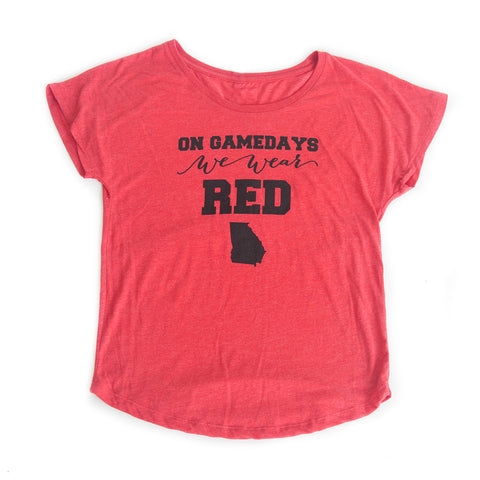Georgia Women's Gameday T-shirt Red