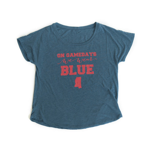 Mississippi Women's Gameday T-shirt Blue
