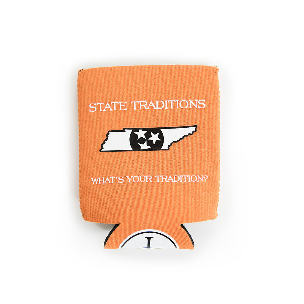 Tennessee Knoxville Traditional Koozie Orange