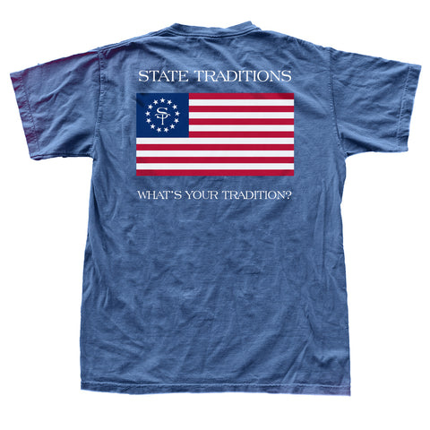 ST American Flag T-Shirt Navy