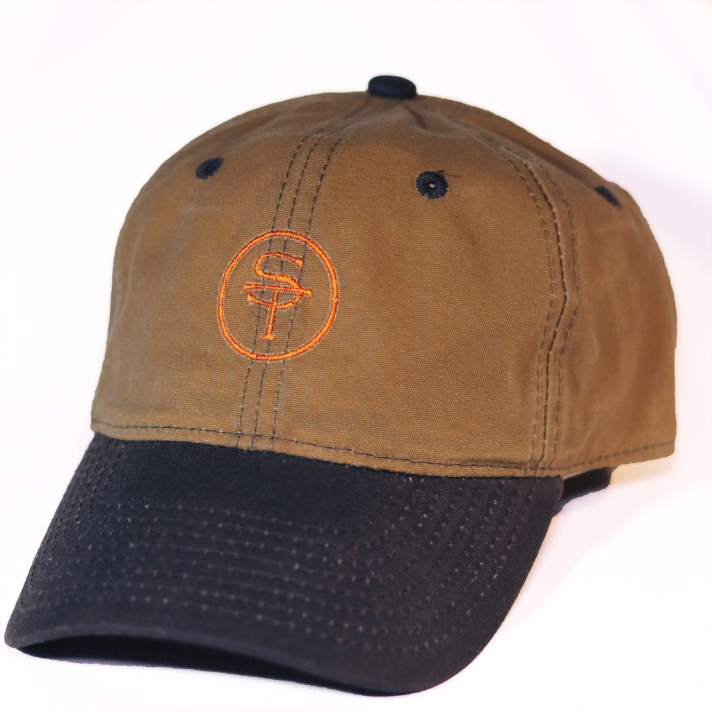 State Traditions ST Logo Hat Waxed Brown