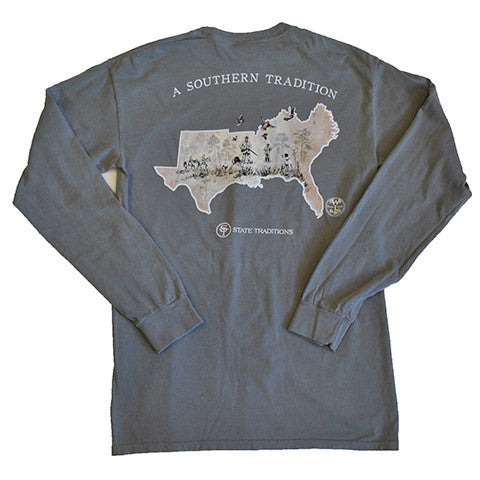 Southern Flight Long Sleeve T-Shirt Grey